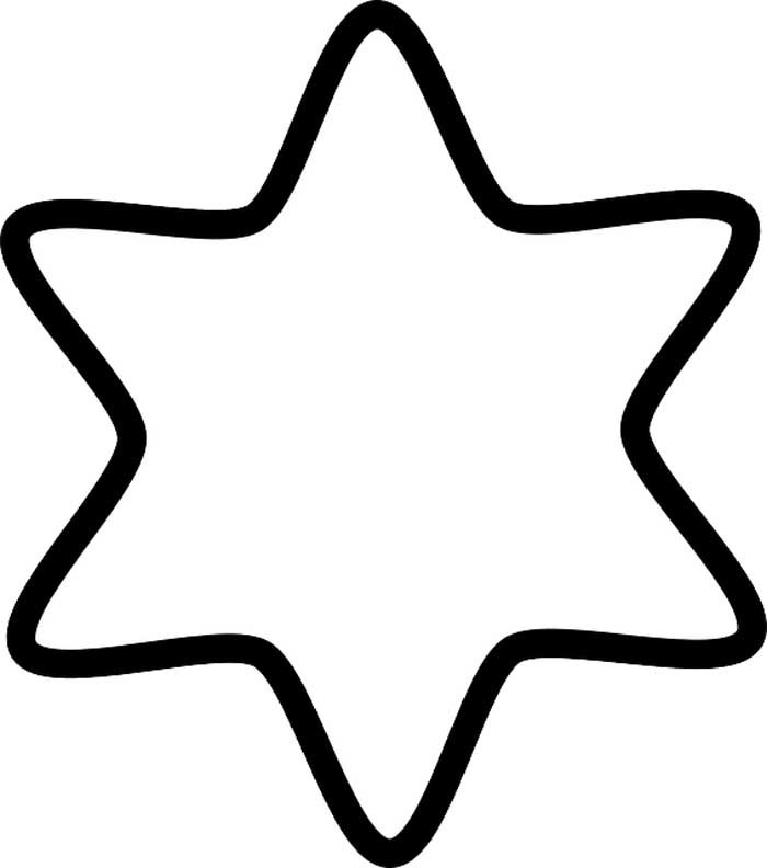 estrela redonda para colorir