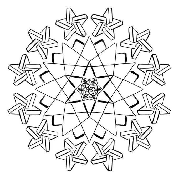 Estrelas mandala para colorir