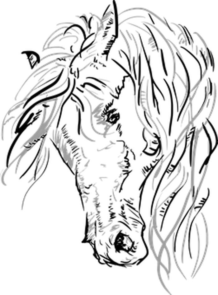 Figura de cavalo para colorir