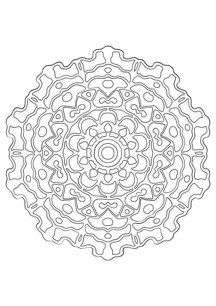 figura de mandala para colorir