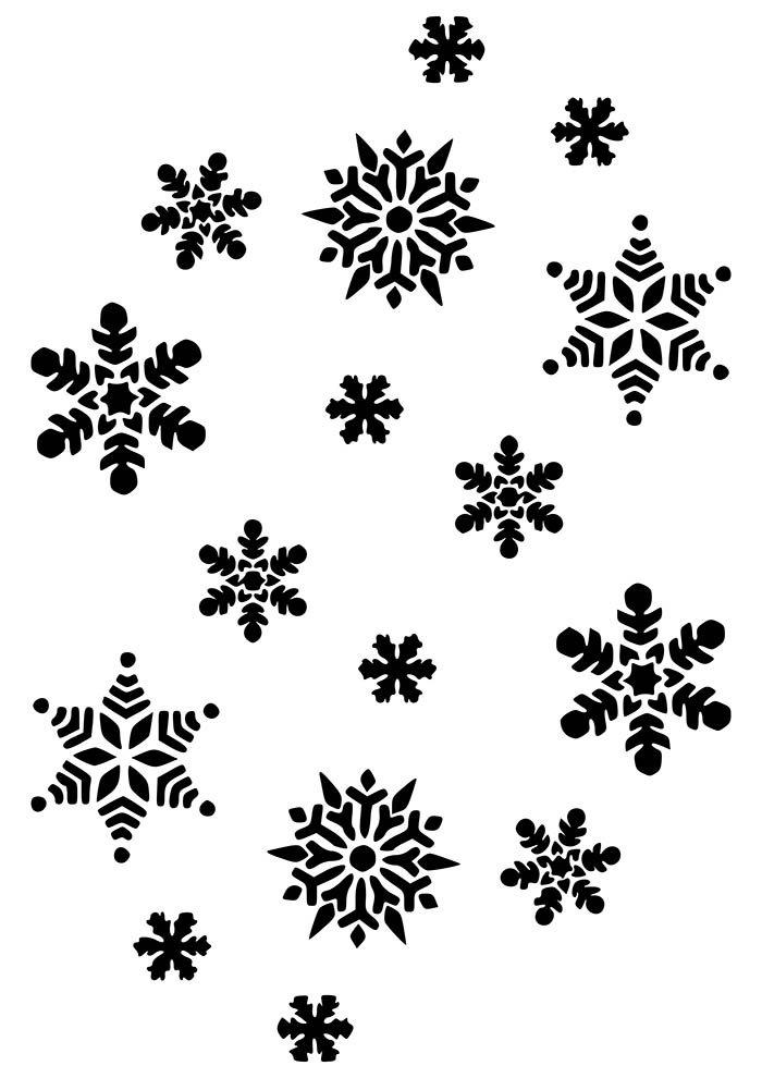 flocos de neve natal para colorir