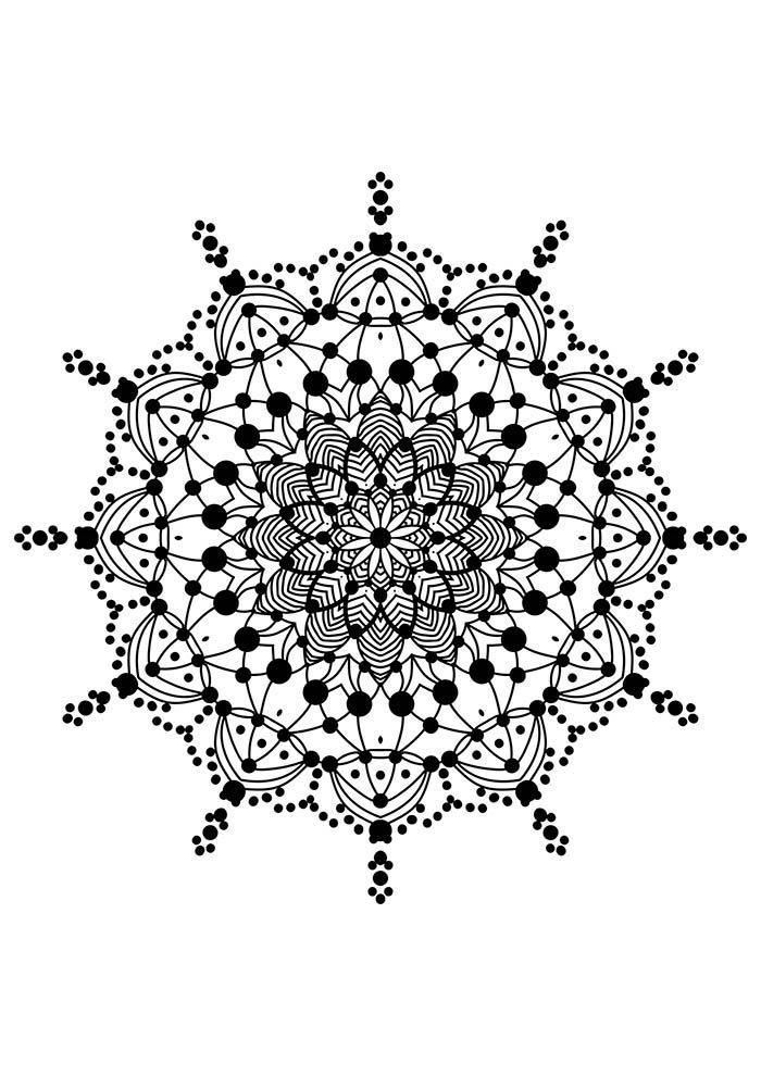 flor mandala para colorir