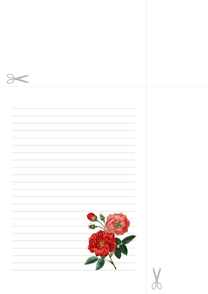 Folha com linhas para imprimir