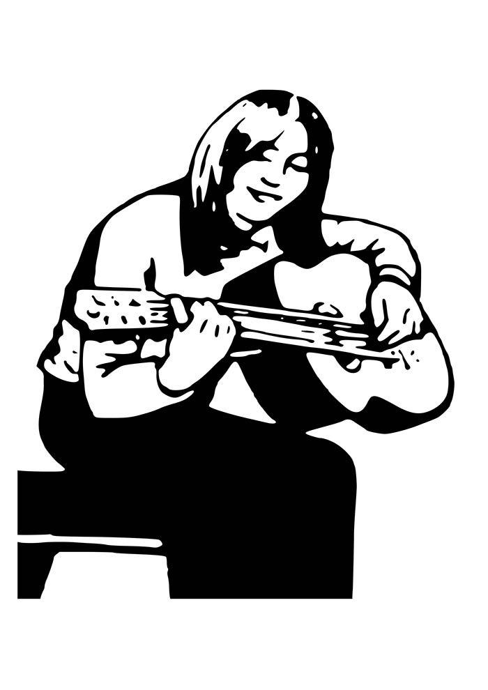 garota tocando violão