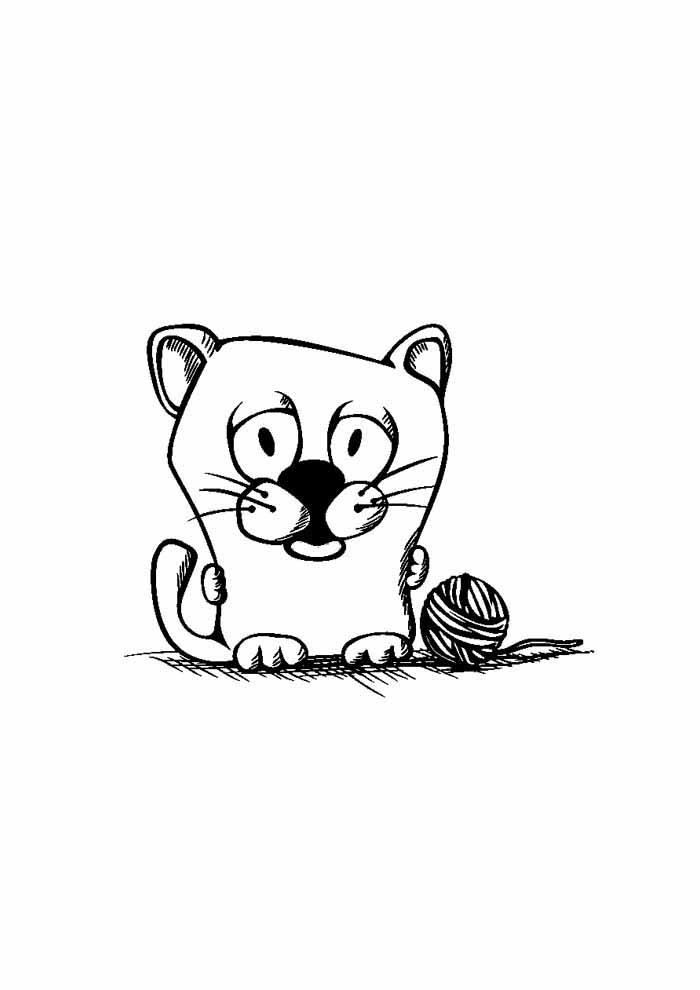 gato para colorir pequeno 1