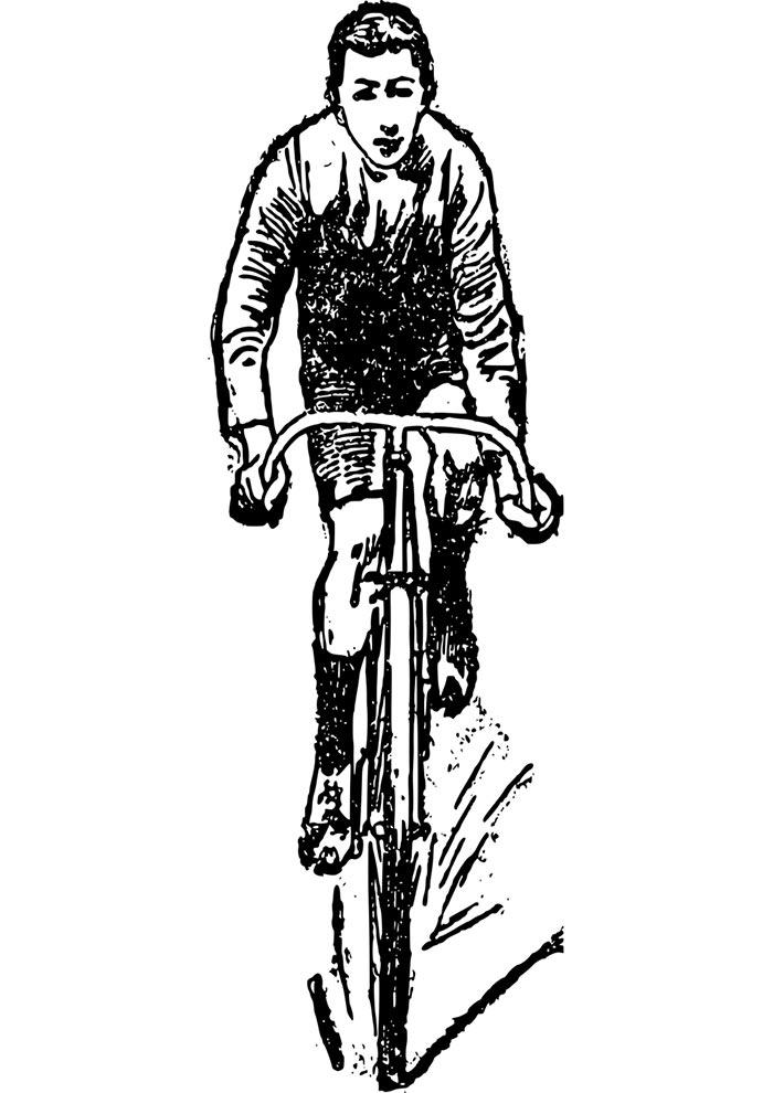 homem na bicicleta para imprimir
