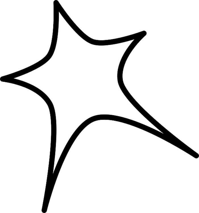 Imagem estrela para colorir