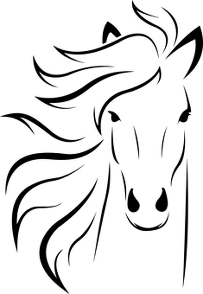 imagem de cara de cavalo para colorir