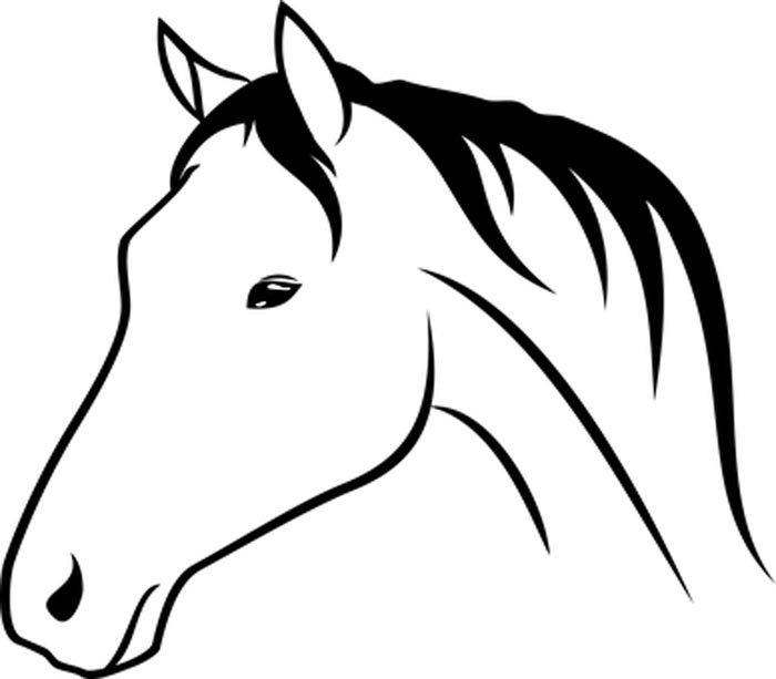 Imagem de cavalo bonito para colorir