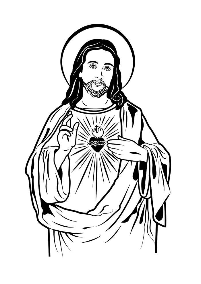 Jesus para colorir