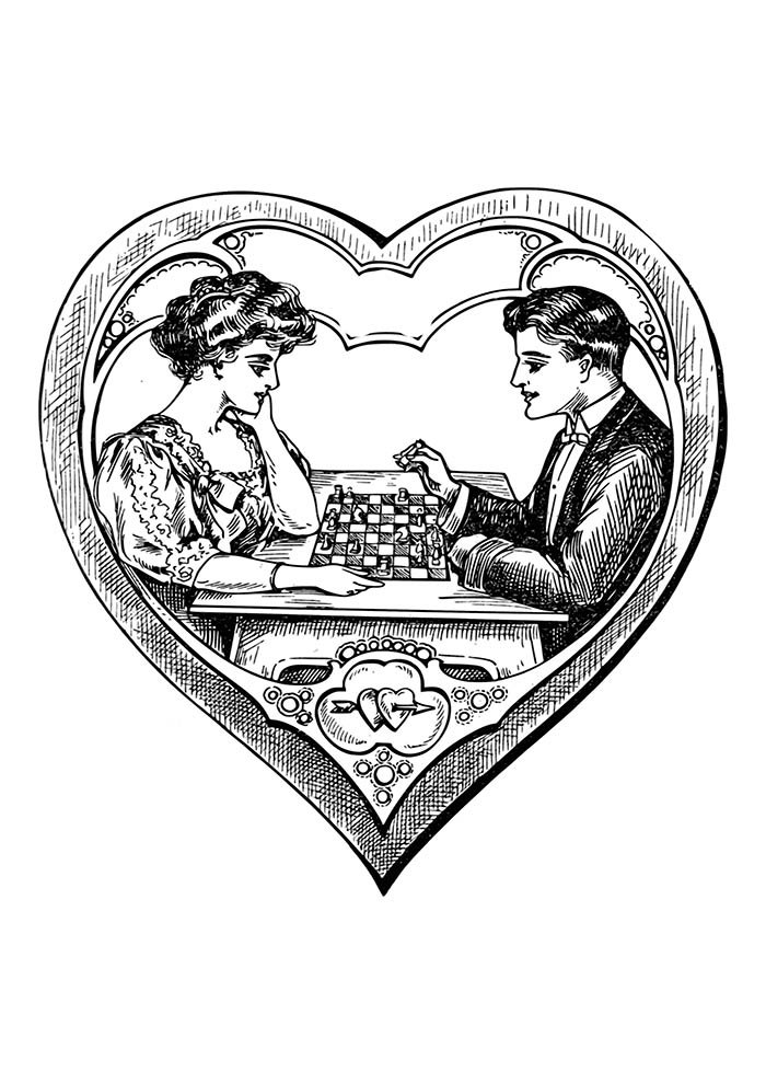 jogo de xadres no coração
