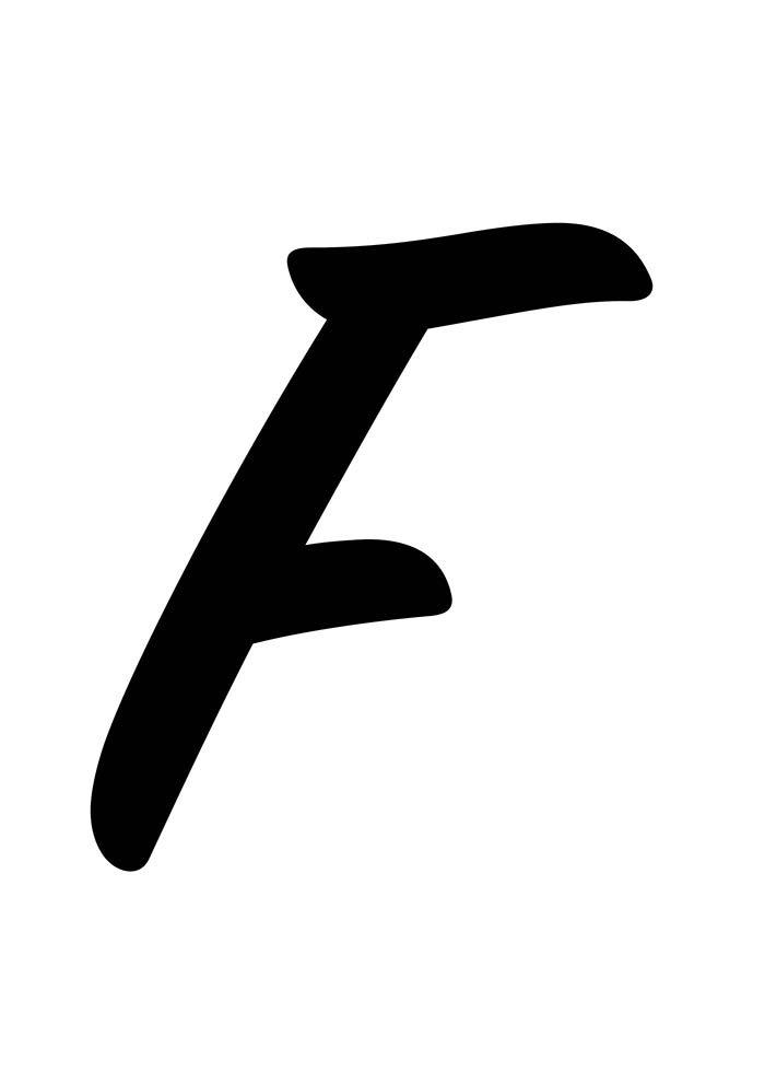 Letra F para imprimir