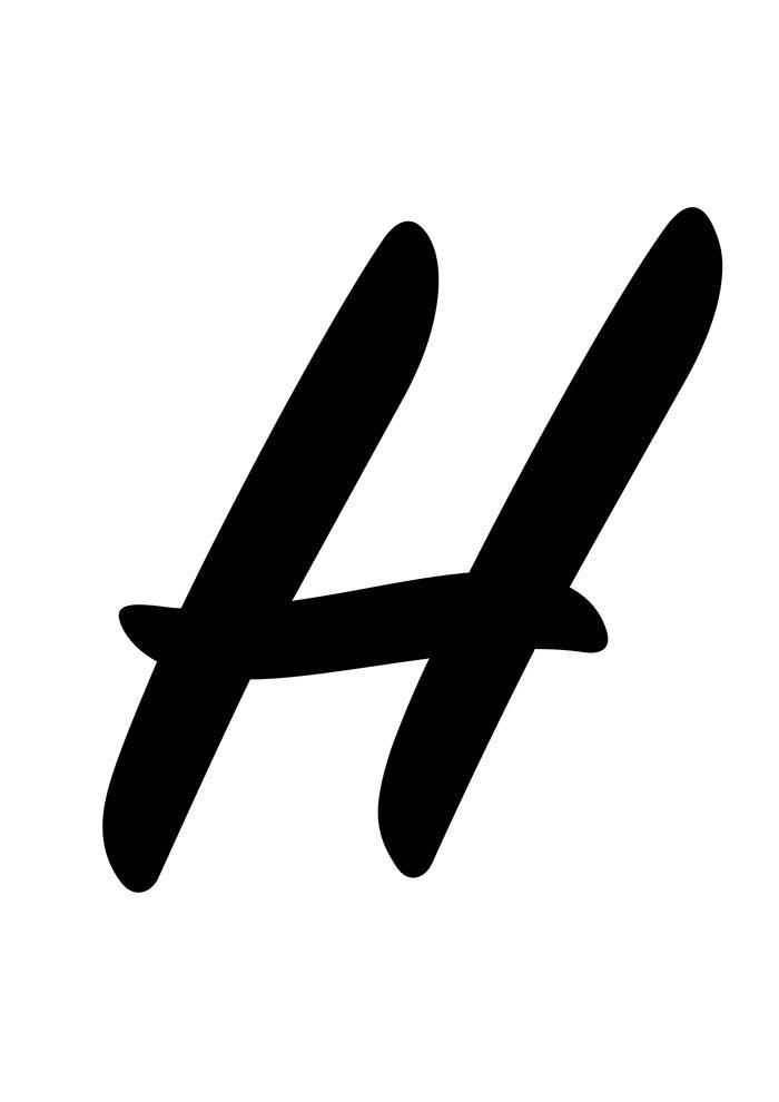 Letra H para imprimir