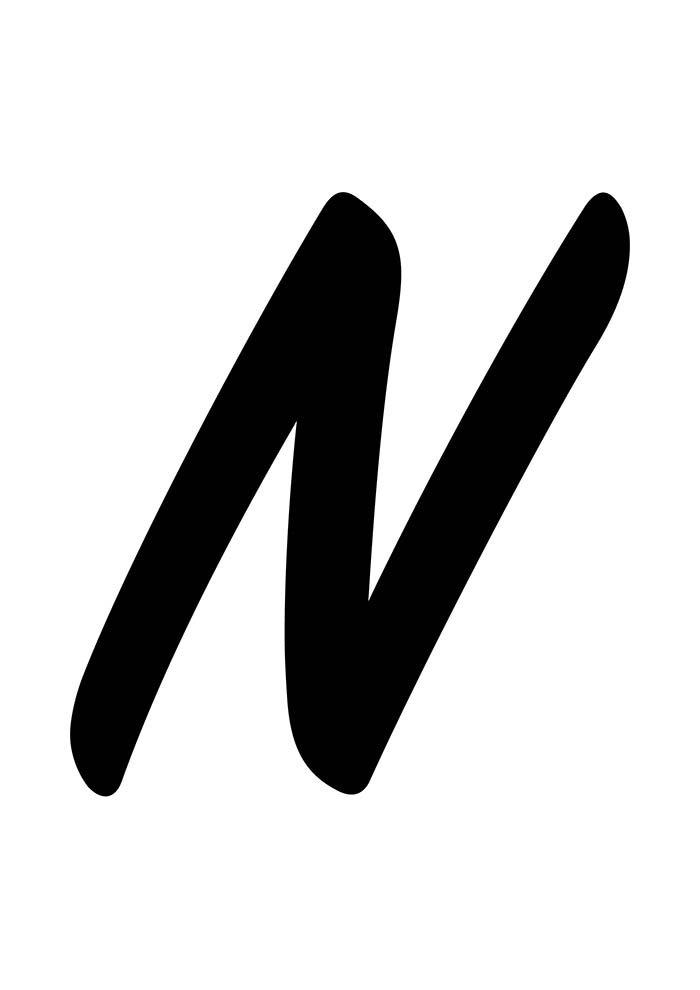 Letra N para imprimir