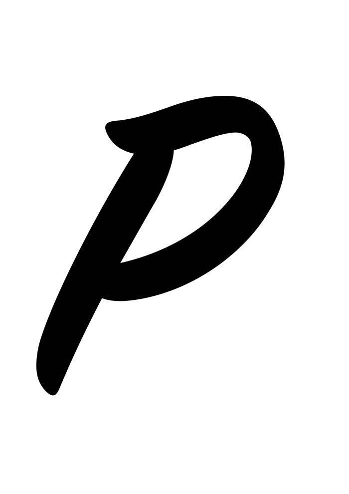 Letra P para imprimir