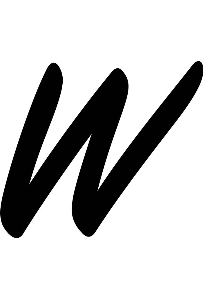 letra w para imprimir
