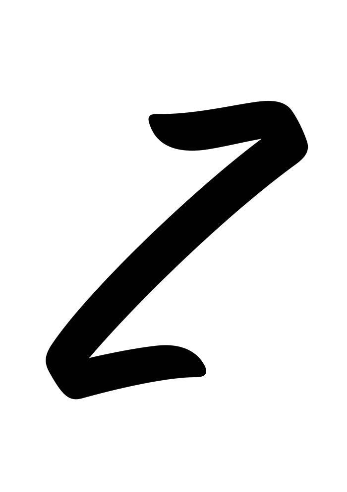 letra z para imprimir