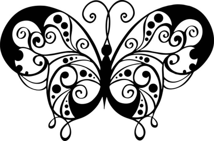Linda borboleta para colorir