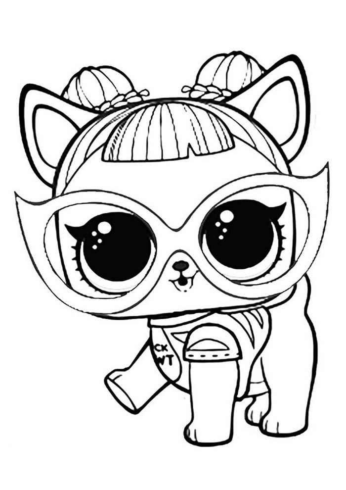 lol gatinha para colorir