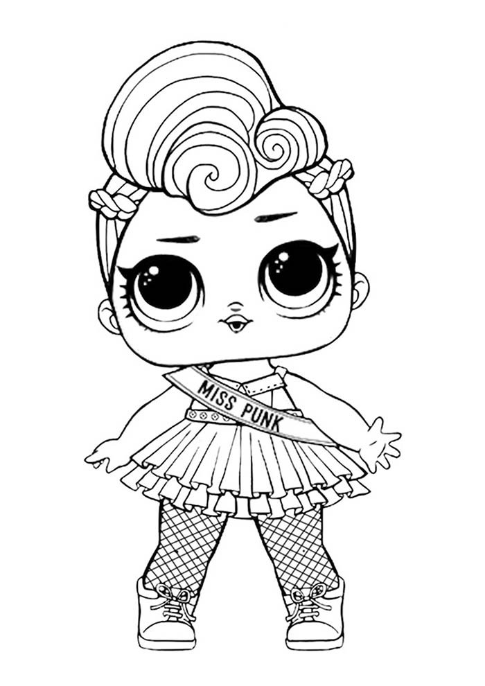lol miss punk para colorir