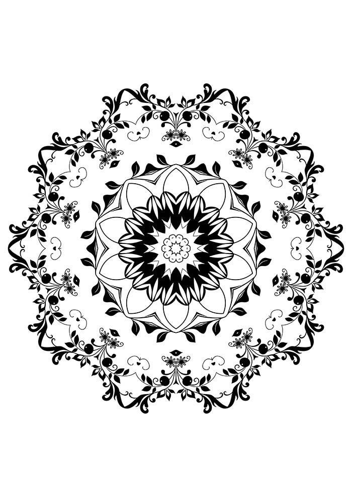 mandala com flores