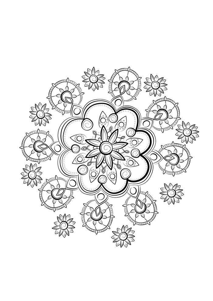 mandala de flor para colorir