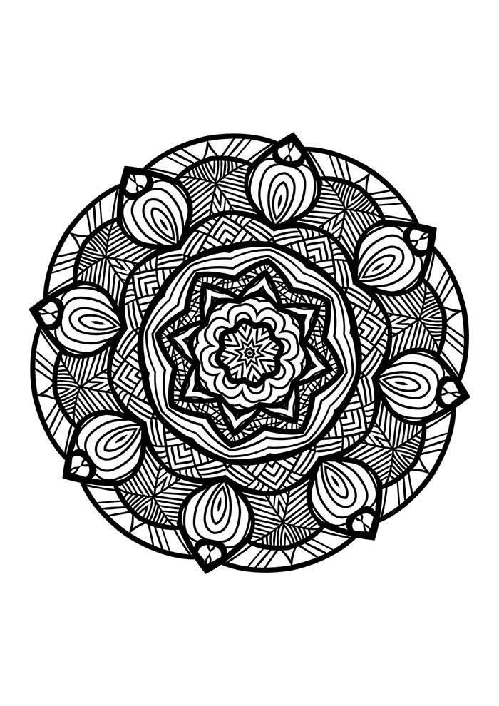 mandala desenho para colorir