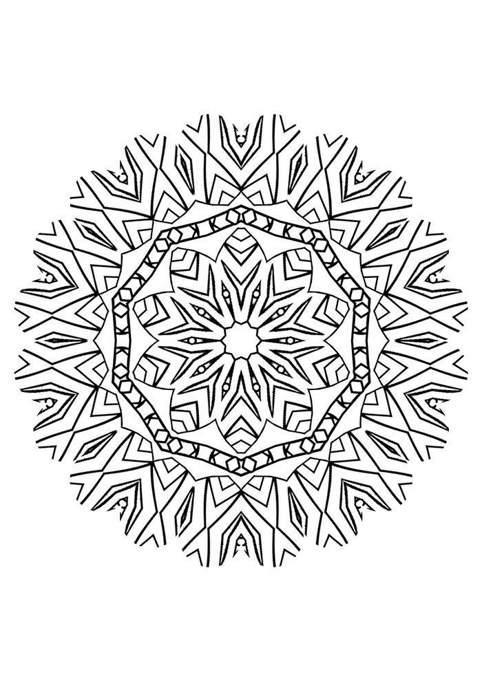 mandala estrela para colorir