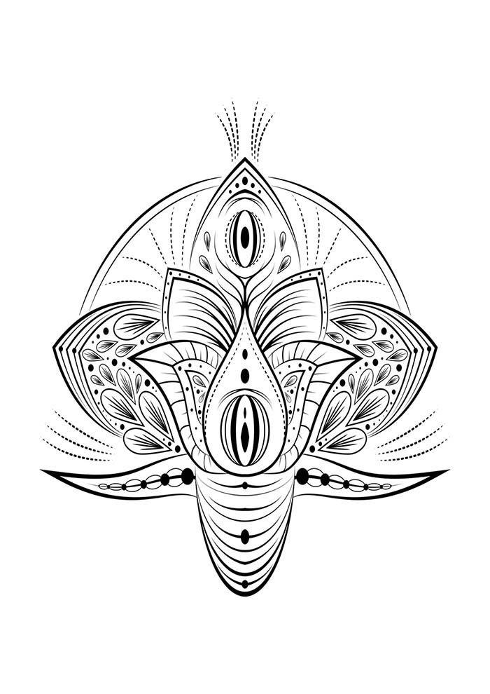 mandala flor de lotus para colorir