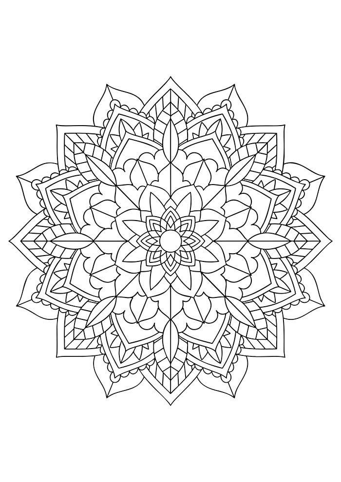 mandala geométrica para colorir