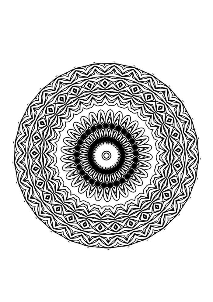 mandala olho grego para colorir