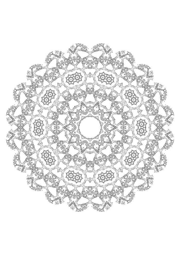 mandala para colorir grátis