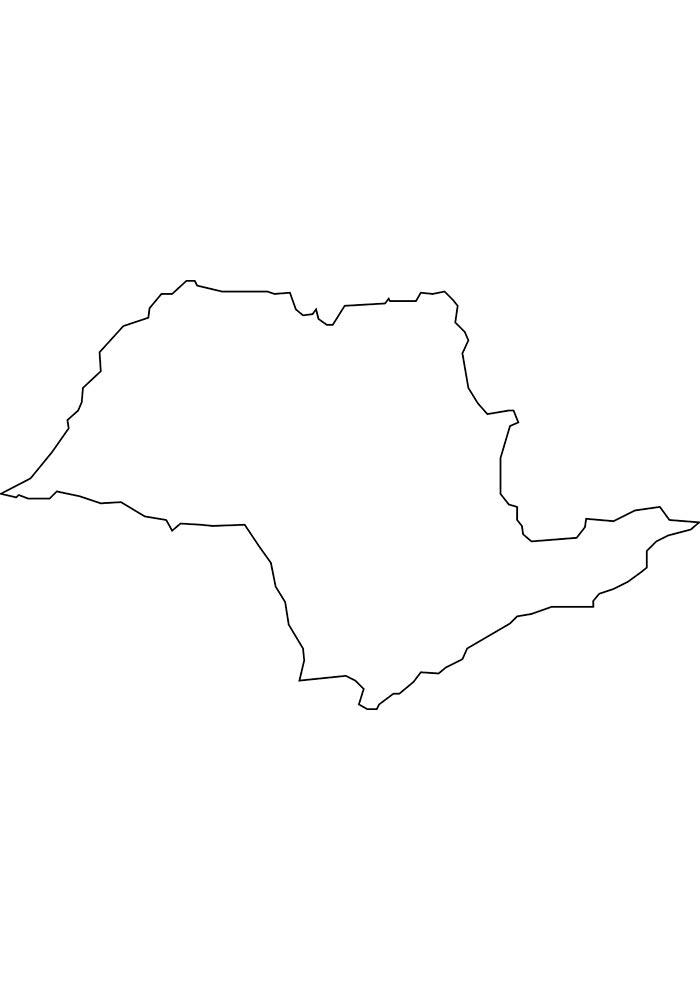 Mapa de São Paulo para colorir