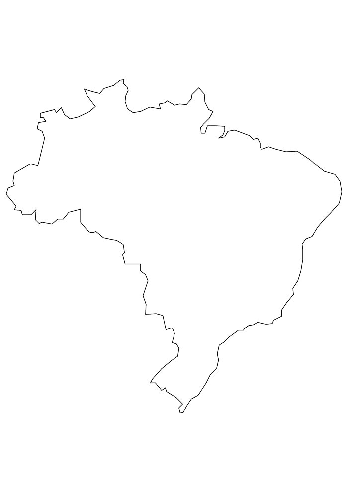 Mapa do brasil para imprimir e colorir