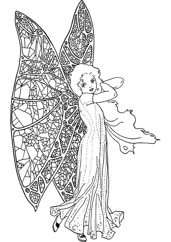 menina borboleta para imprimir e colorir