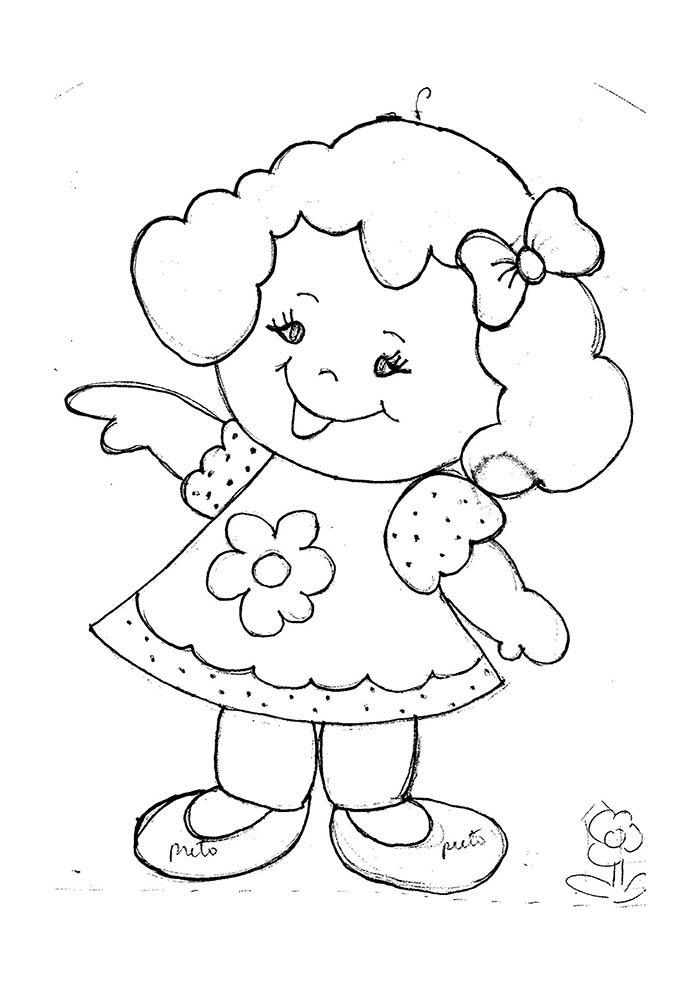 menina desenho para colorir