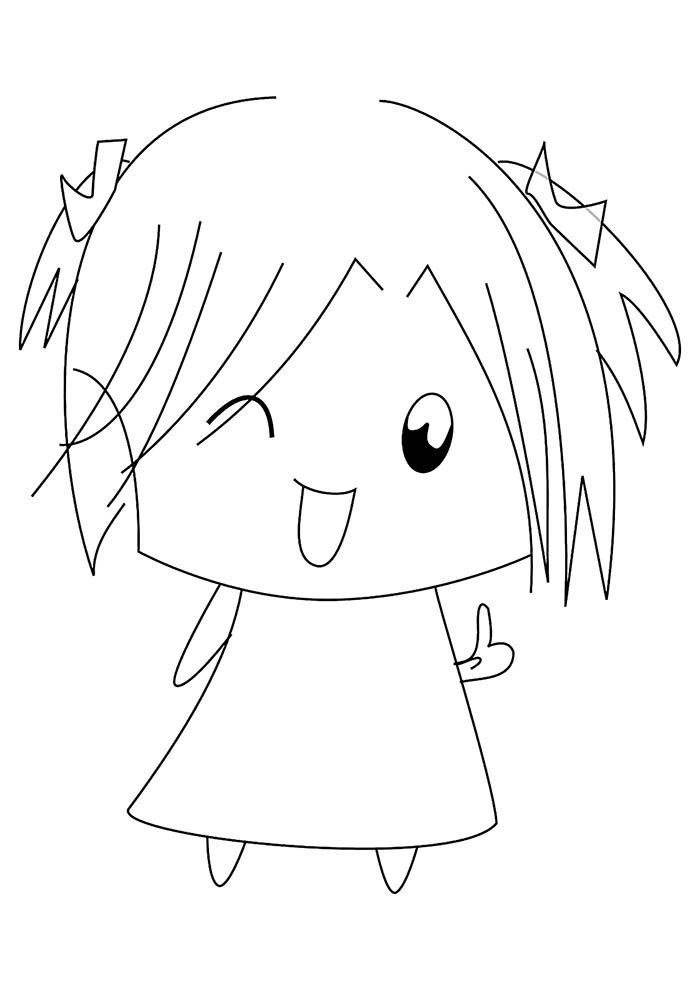 menina para pintar