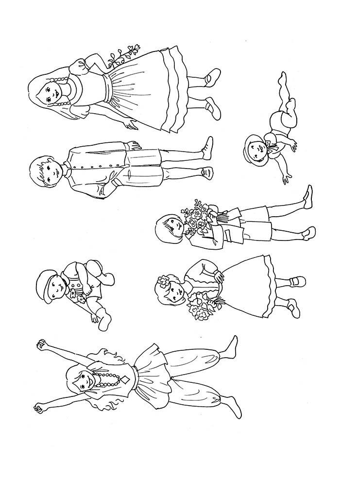 menino e menina para colorir