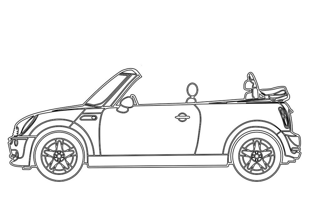 carro mini cooper para colorir