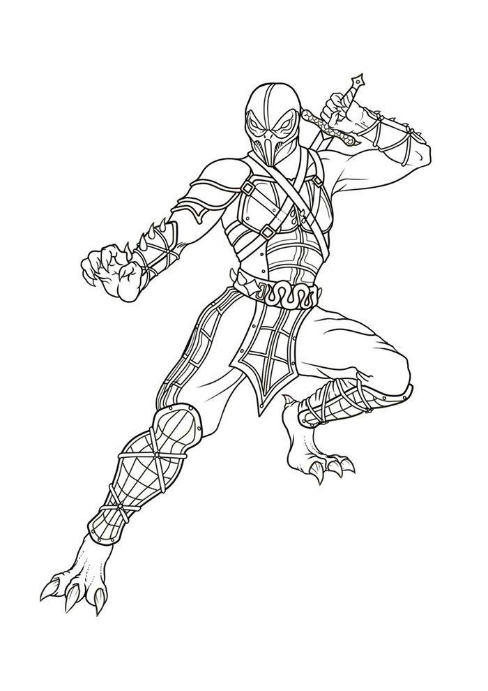 Mortal kombat desenho colorir