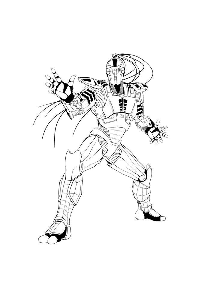 Mortal kombat desenho para colorir