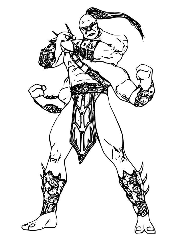 Mortal kombat desenhos para colorir