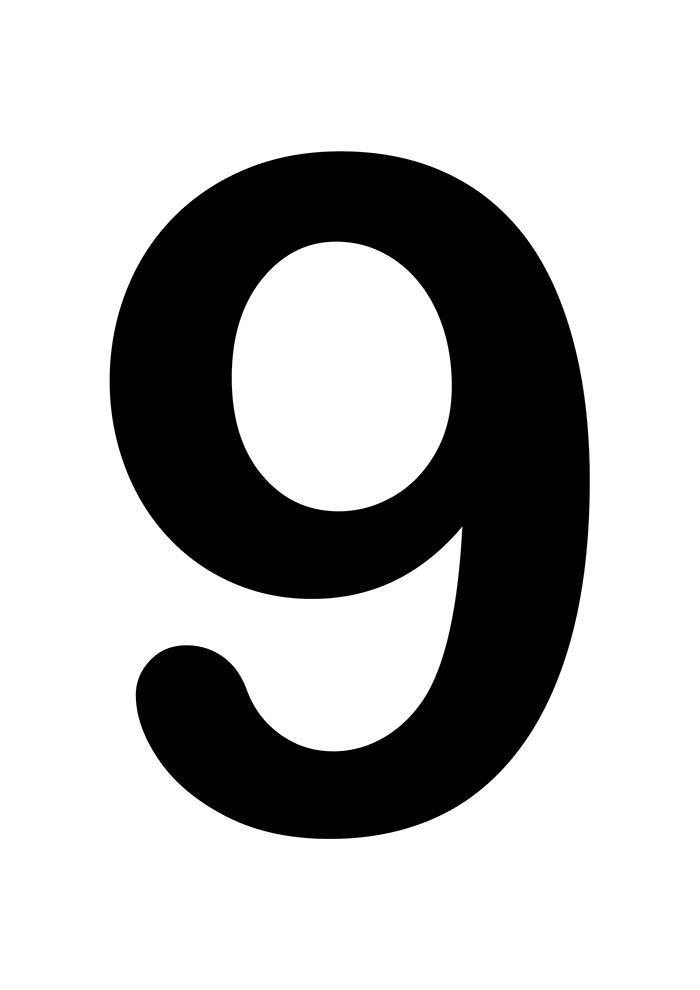 número nove para imprimir