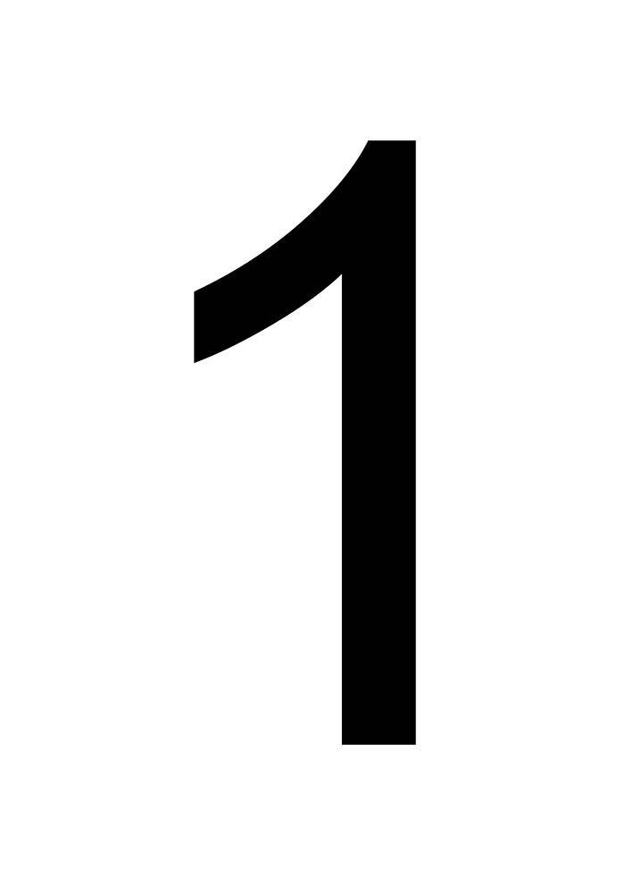 número 1 para imprimir