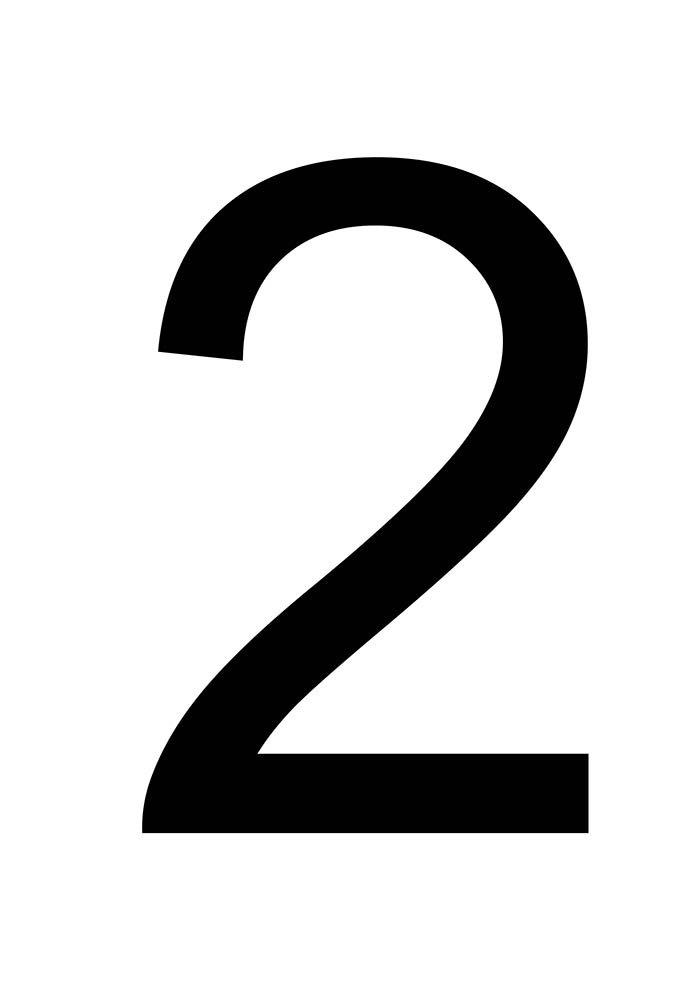 número 2 para imprimir