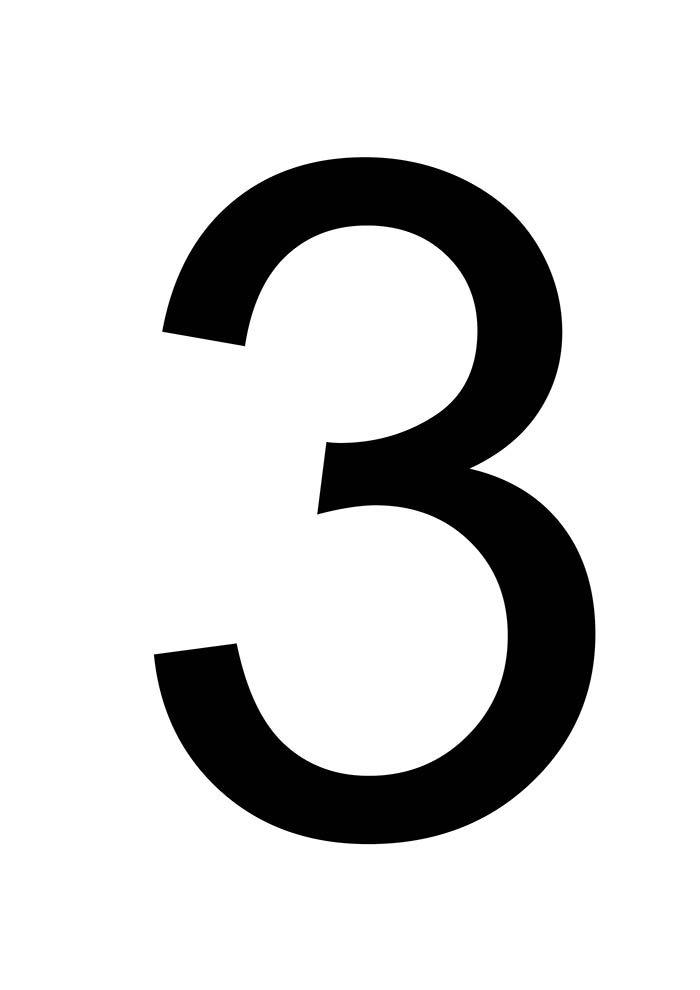 número 3 para imprimir