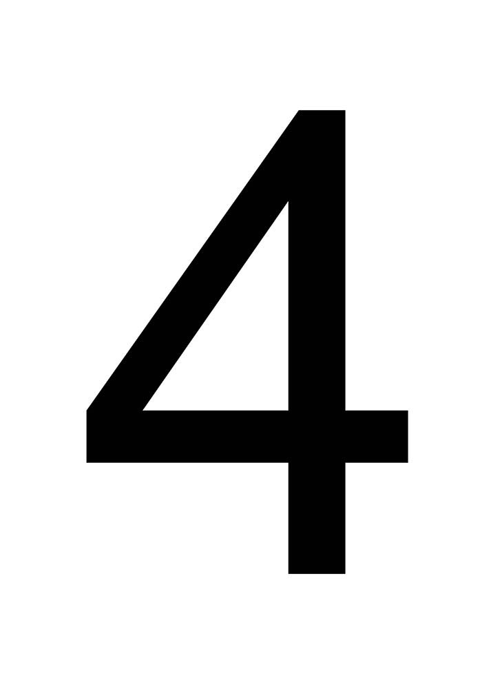 número 4 para imprimir