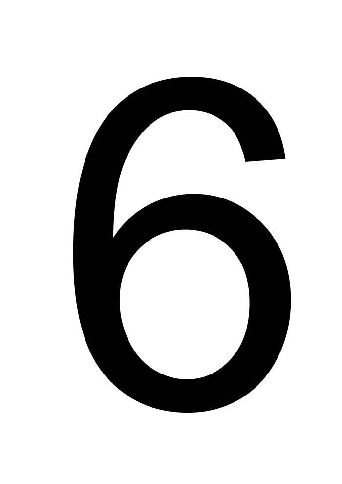 número 6 para imprimir