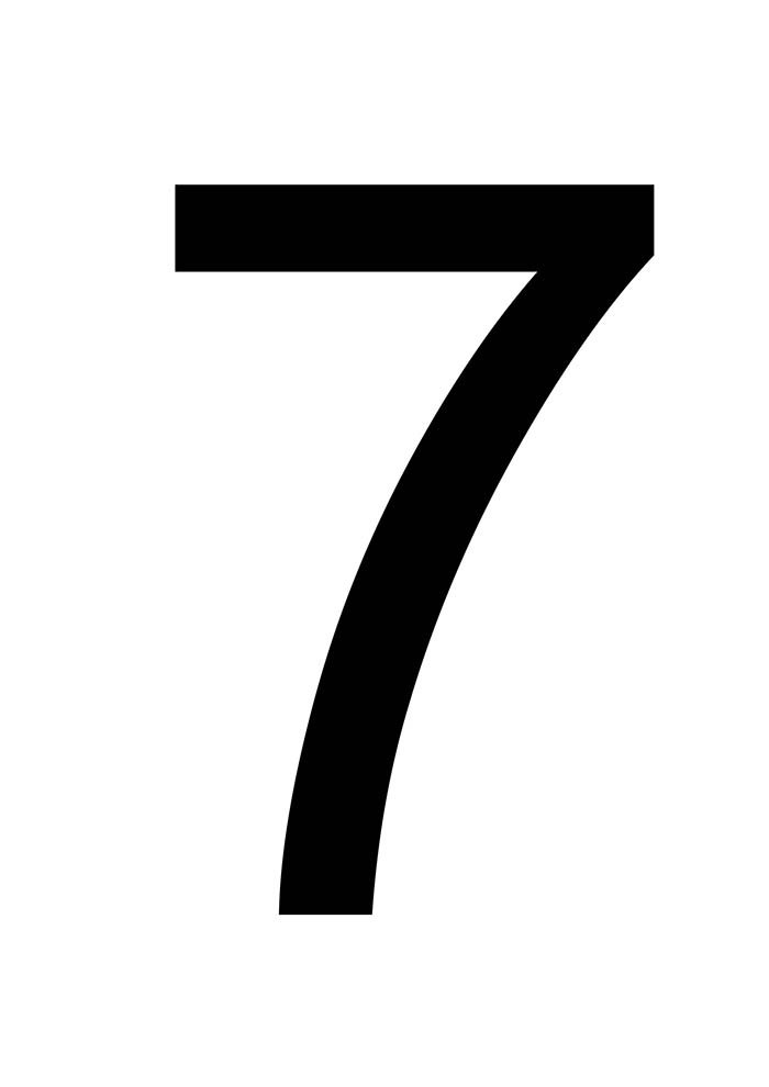número 7 para imprimir