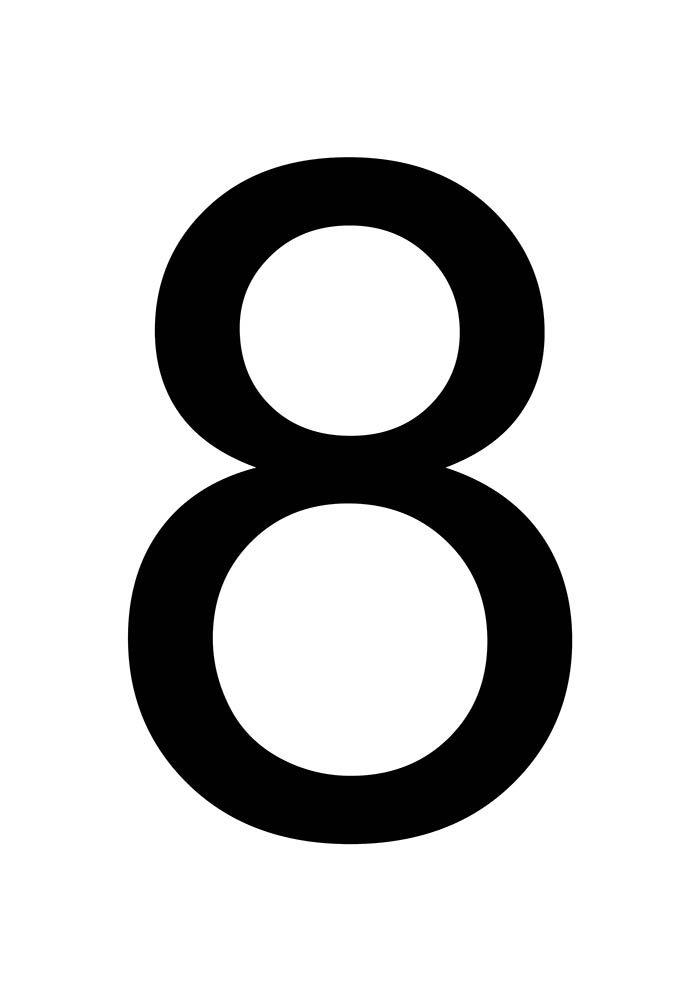 número 8 para imprimir